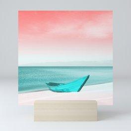 boat on the beach Mini Art Print