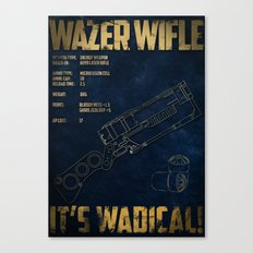 Wazer Wifle Poster Canvas Print
