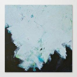 Skyline: Acrylic semi-abstract landscape, trees against the sky. Canvas Print