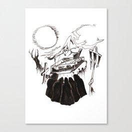 Night Funeral Canvas Print