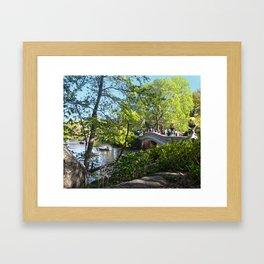 Bow Bridge- Central Park- NYC Framed Art Print