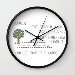 Behold! My Field of Fucks! (Mature) Wall Clock