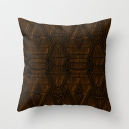Coppery African Pyramid Throw Pillow