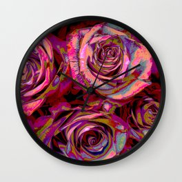 Extreme Roses Wall Clock