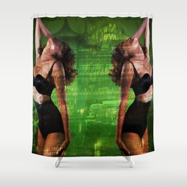 Double Trouble Vamp Girl Shower Curtain