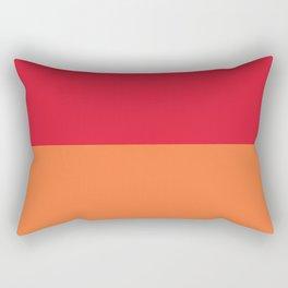 Raspberry Peach Orange Rectangular Pillow