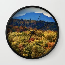 A Grand Blue Ridge View Wall Clock