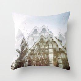 san francisco double exposure, gothic edit Throw Pillow