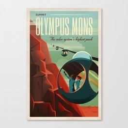 THE VOLCANO OF MARS - Olympus Mons | Space | X | Retro | Vintage | Futurism | Sci-Fi Canvas Print