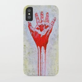 """""""The Red Hand"""" iPhone Case"""