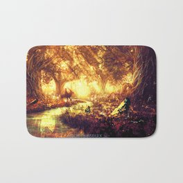 Ashitaka and the Tree Spirits Bath Mat
