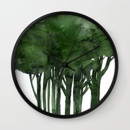 Tree Impressions No.1C by Kathy Morton Stanion Wall Clock