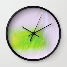 Green Carnations Wall Clock