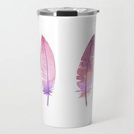 Pink feathers Travel Mug