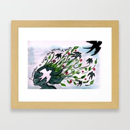 Surrender to Spring - the rebirth of beauty. Framed Art Print