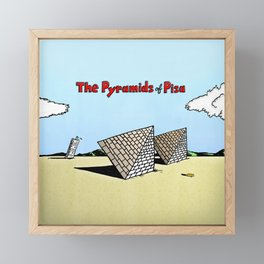 The Pyramids of Pisa Framed Mini Art Print