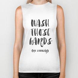 Wash those hands Toilet sign Bathroom rules INSTANT DOWNLOAD Kids wall art Loo sign Washroom sign Ba Biker Tank