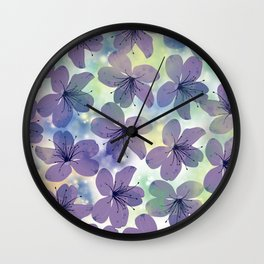 Floral Pattern #4 Wall Clock