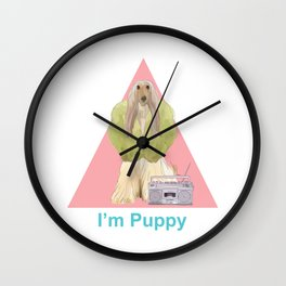 I'm Puppy #2 Wall Clock
