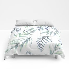 Floating Leaves Blue #society6 #buyart Comforters