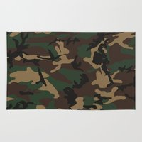 camo Area & Throw Rugs featuring Camo by TheSmallCollective