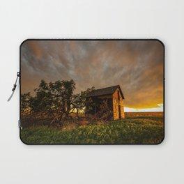 Basking in the Glow - Old Barn In Warm Sunlight in Oklahoma Laptop Sleeve