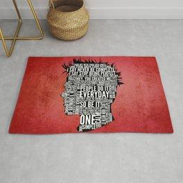 Typography Tyler Durden Uncensored Rug