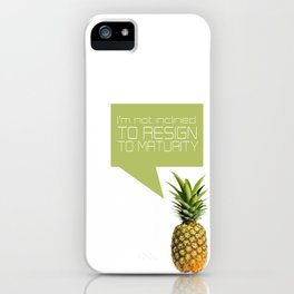 psych tv show... im not inclined to resign to maturity iPhone Case