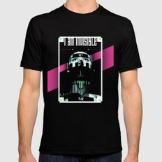 I AM INVISIBLE MEDIUM Mens Fitted Tee Black