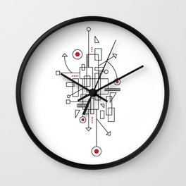 Doodle-3 of 3 Wall Clock