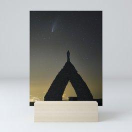 Comet Neowise and Snow Virgin. Sierra Nevada National Park Mini Art Print