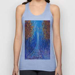 Impressionist Autumn -  ( inspired by Pollock ) Unisex Tank Top