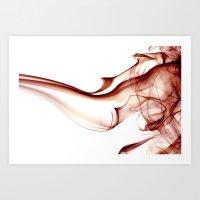 Smoke - Red Art Print