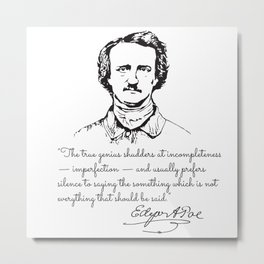 Edgar Allan Poe Antiquarian Metal Print