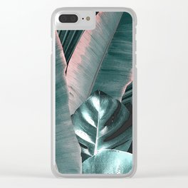 Tropical Leaves 2 Clear iPhone Case