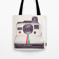 Ballpoint Pen Polaroid Tote Bag