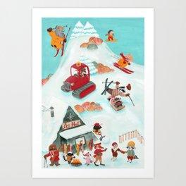 Ski Hut Art Print