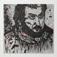 kubrick Canvas Prints featuring Kubrick by love & nate