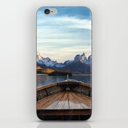 Torres del Paine National Park Chile, The Boat in Patagonia iPhone Skin