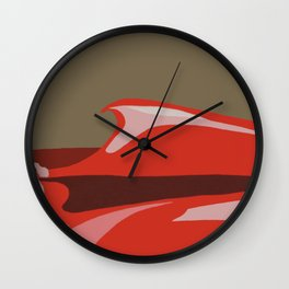 Red, pink, khaki sky moment Wall Clock