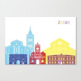 Zadar skyline pop Canvas Print