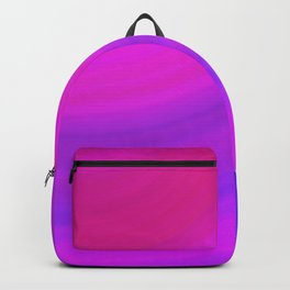 Neon Pink Blue Circles Backpack