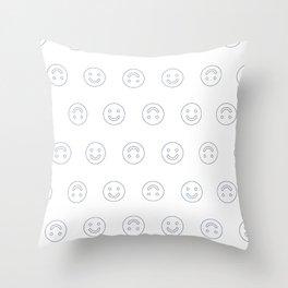 Smiles - White Throw Pillow
