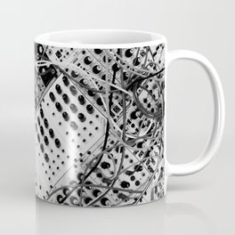 analog synthesizer  - diagonal black and white illustration Coffee Mug