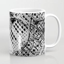analog synthesizer  - diagonal black and white illustration Coffee Mug