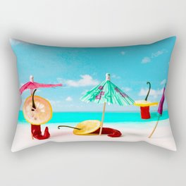 The Red, the Hot, the Chili on the beach Rectangular Pillow