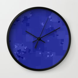 Royal Blue Square Pixel Color Accent Wall Clock