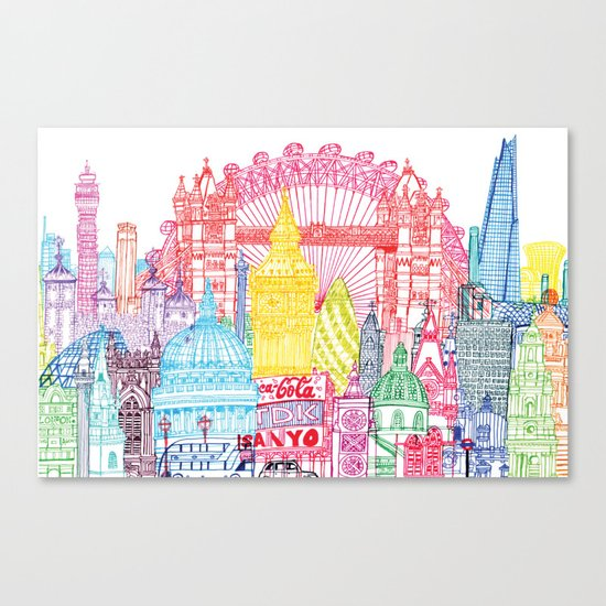 London Towers Canvas Print