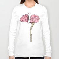 brain Long Sleeve T-shirts featuring BRAIN by Sha Abdullah