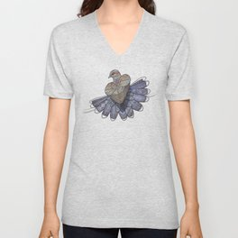 Turtle Dove Unisex V-Neck